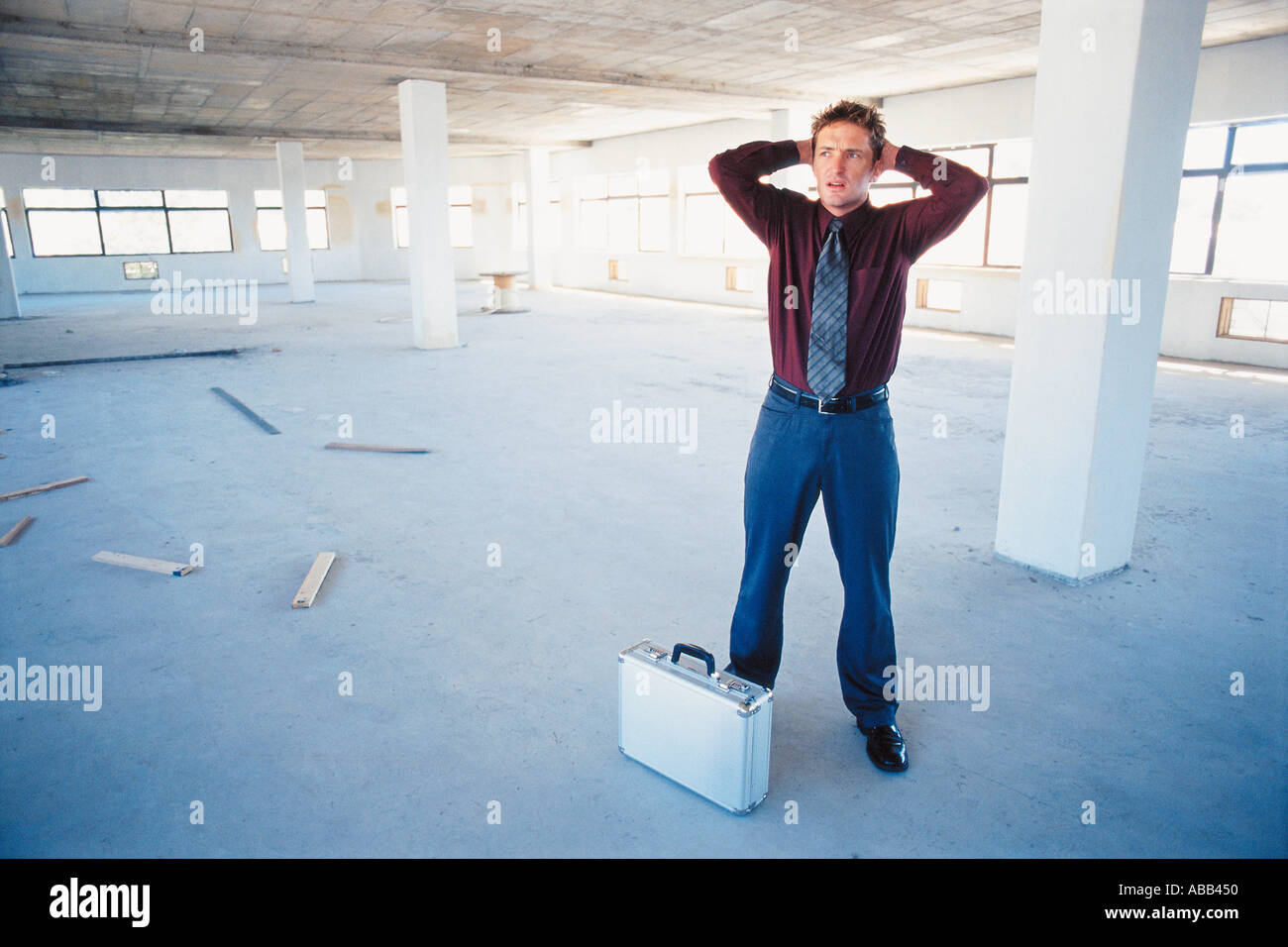 Troubled businessman - Stock Image