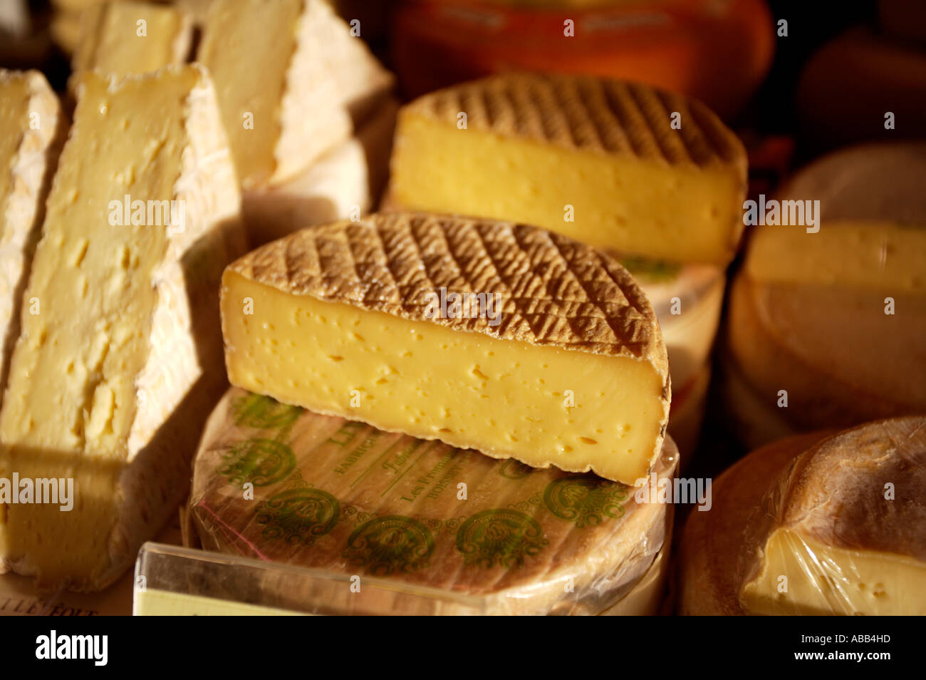 Paris, Market, French Soft Cheese Stock Photo