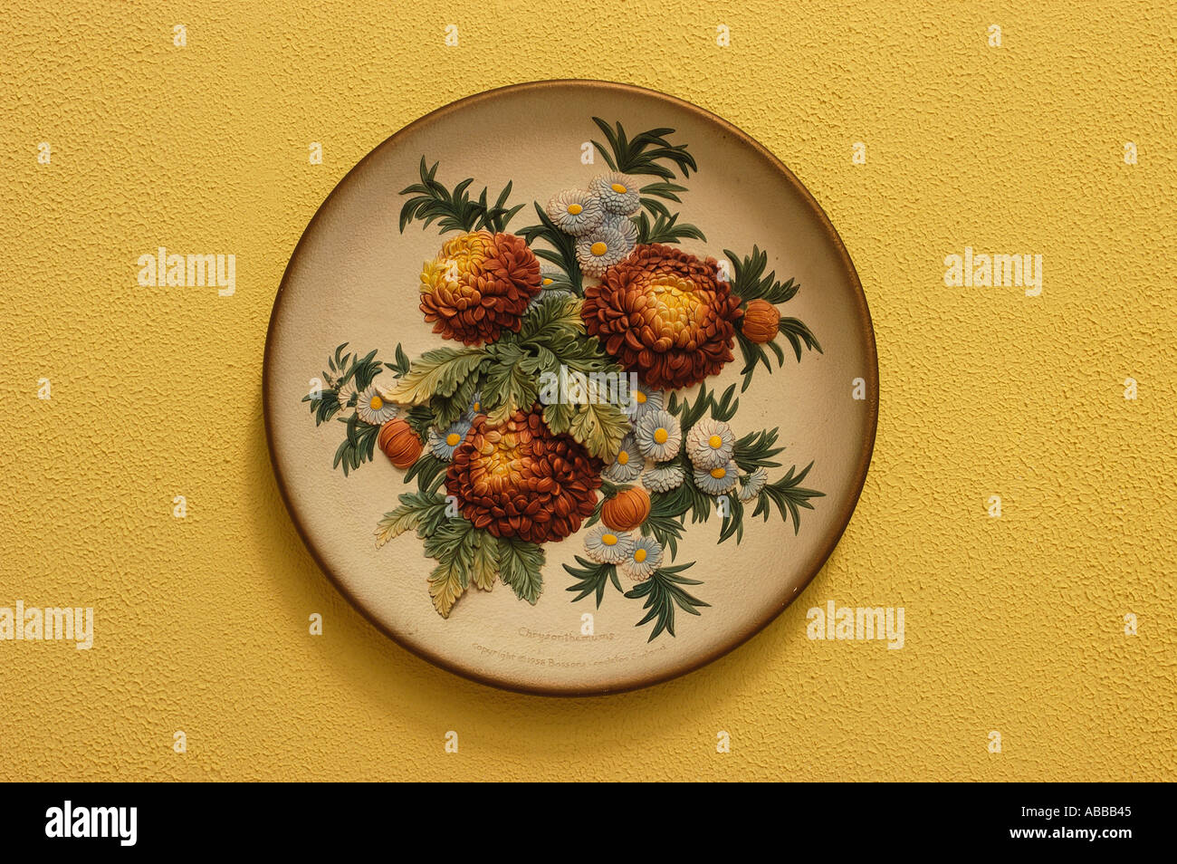 Decorative Plate Hanging On Wall Stock Photos & Decorative Plate ...