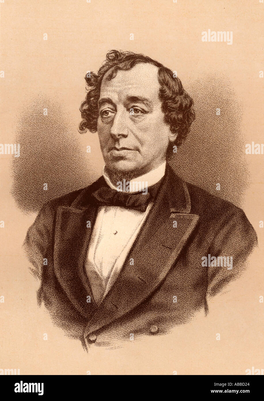 Benjamin Disraeli, 1st Earl of Beaconsfield,1804 –1881. British statesman and two times Prime Minister of the United Kingdom. Stock Photo