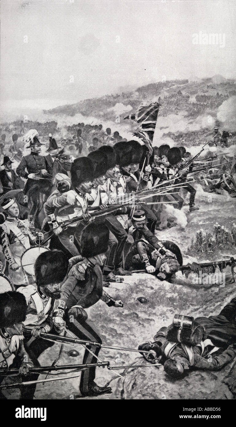 The Storming of the Great Redoubt at the Battle of the Alma, Crimea,  September 20 1854,  Considered first battle of the Crimean - Stock Image