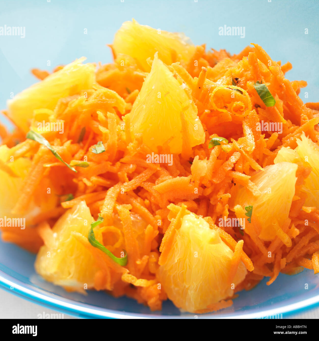 Moroccan Carrot Salad with Orange Zest Morocco - Stock Image