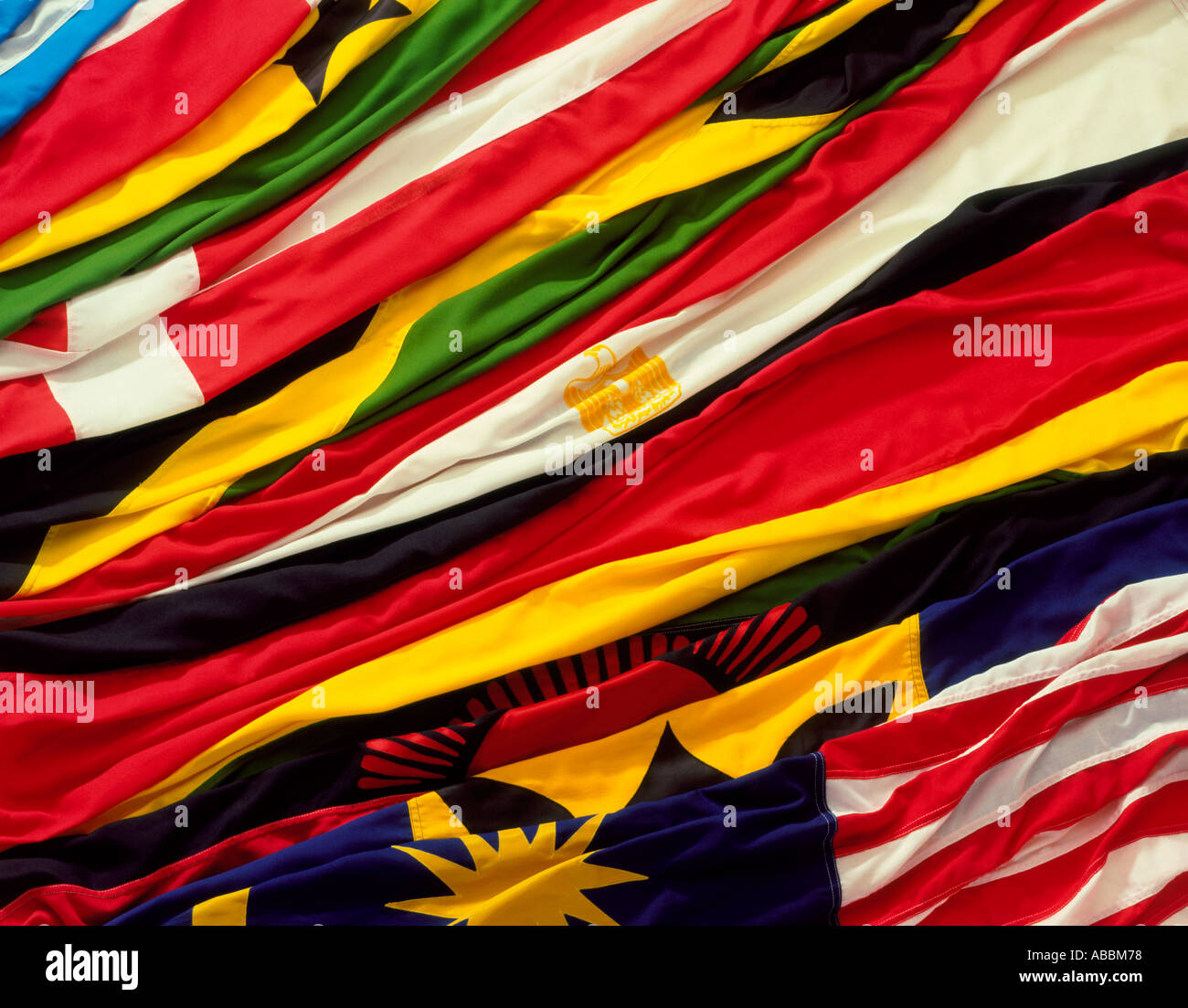 Flags of many nations - Stock Image