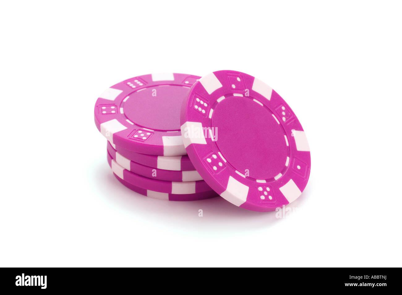 gambling chips - Stock Image