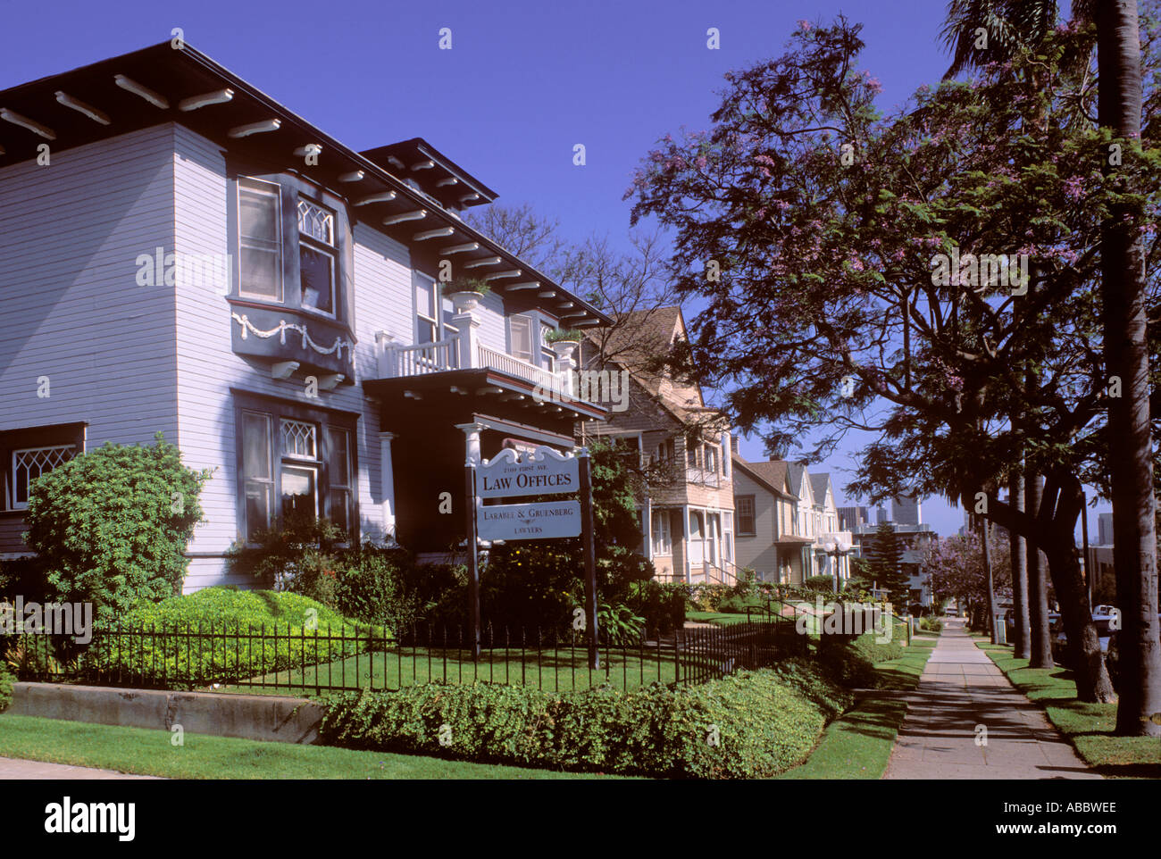 Banker s Hill San Diego California SD - Stock Image