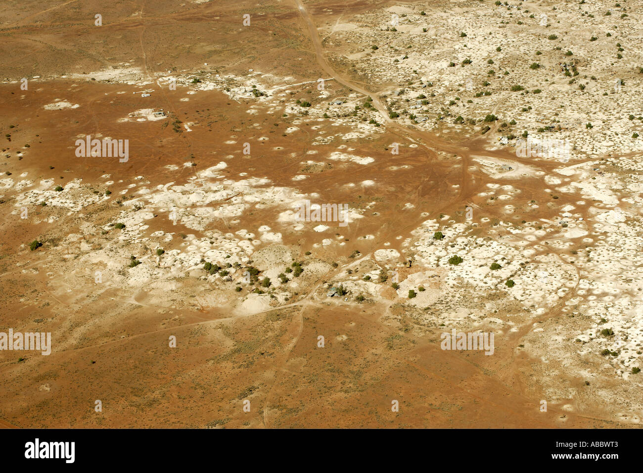 Flying Over Opal Mines in White Cliffs in the Australian Outback [2], NSW - Stock Image