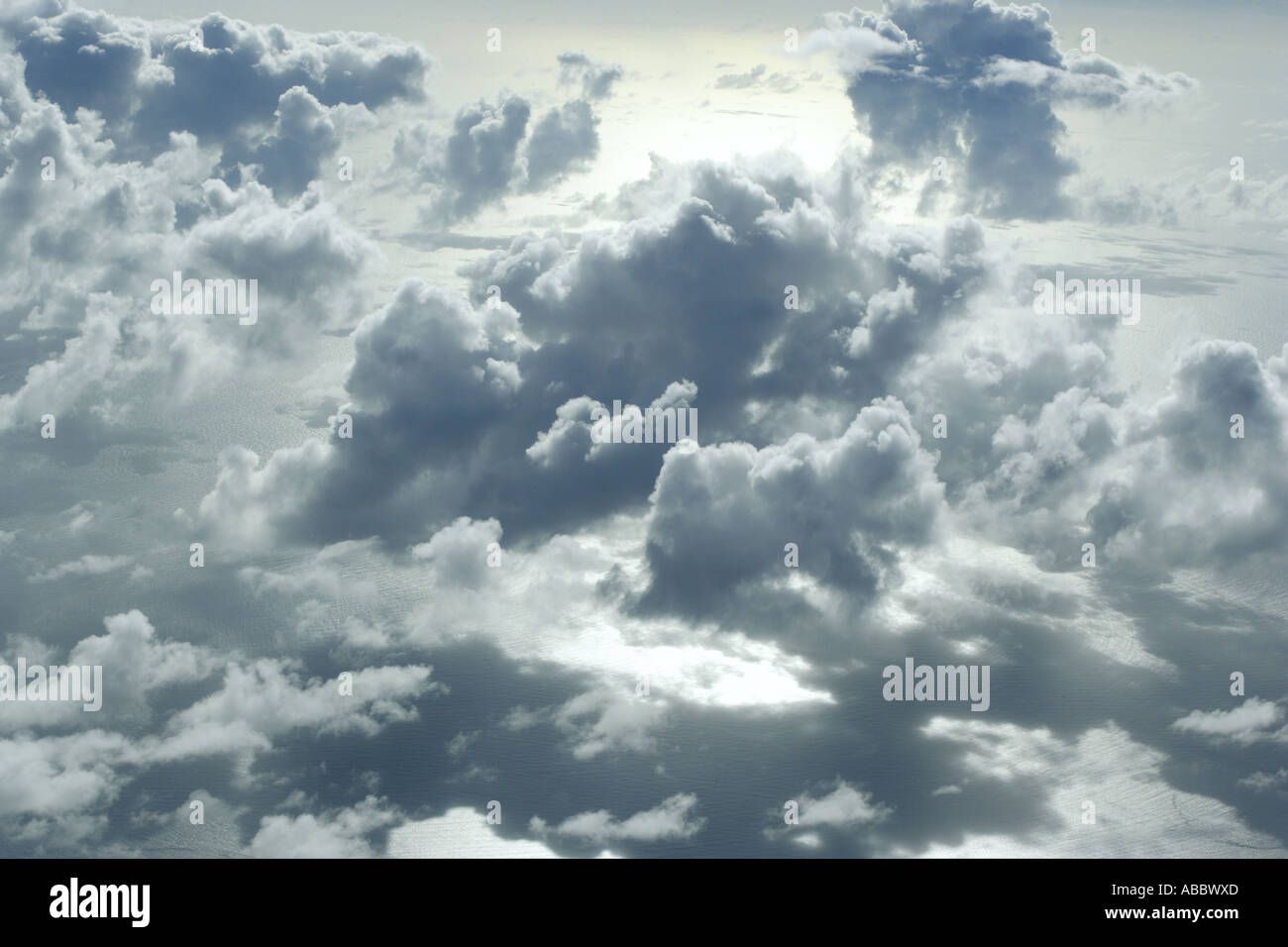 In the Clouds over the Coral Sea [2] - Stock Image