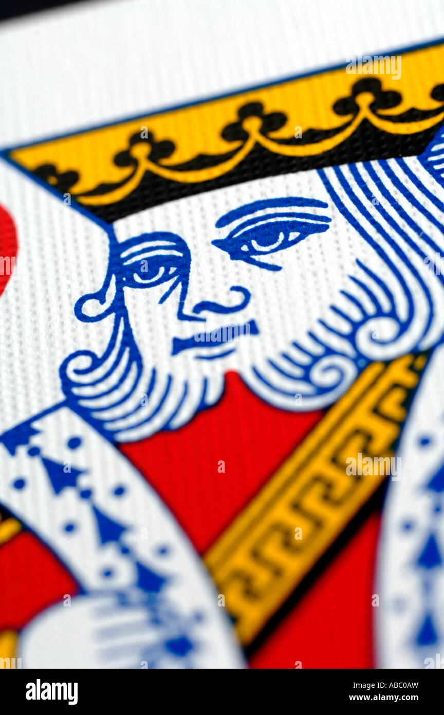 Close up of King of Hearts - Stock Image