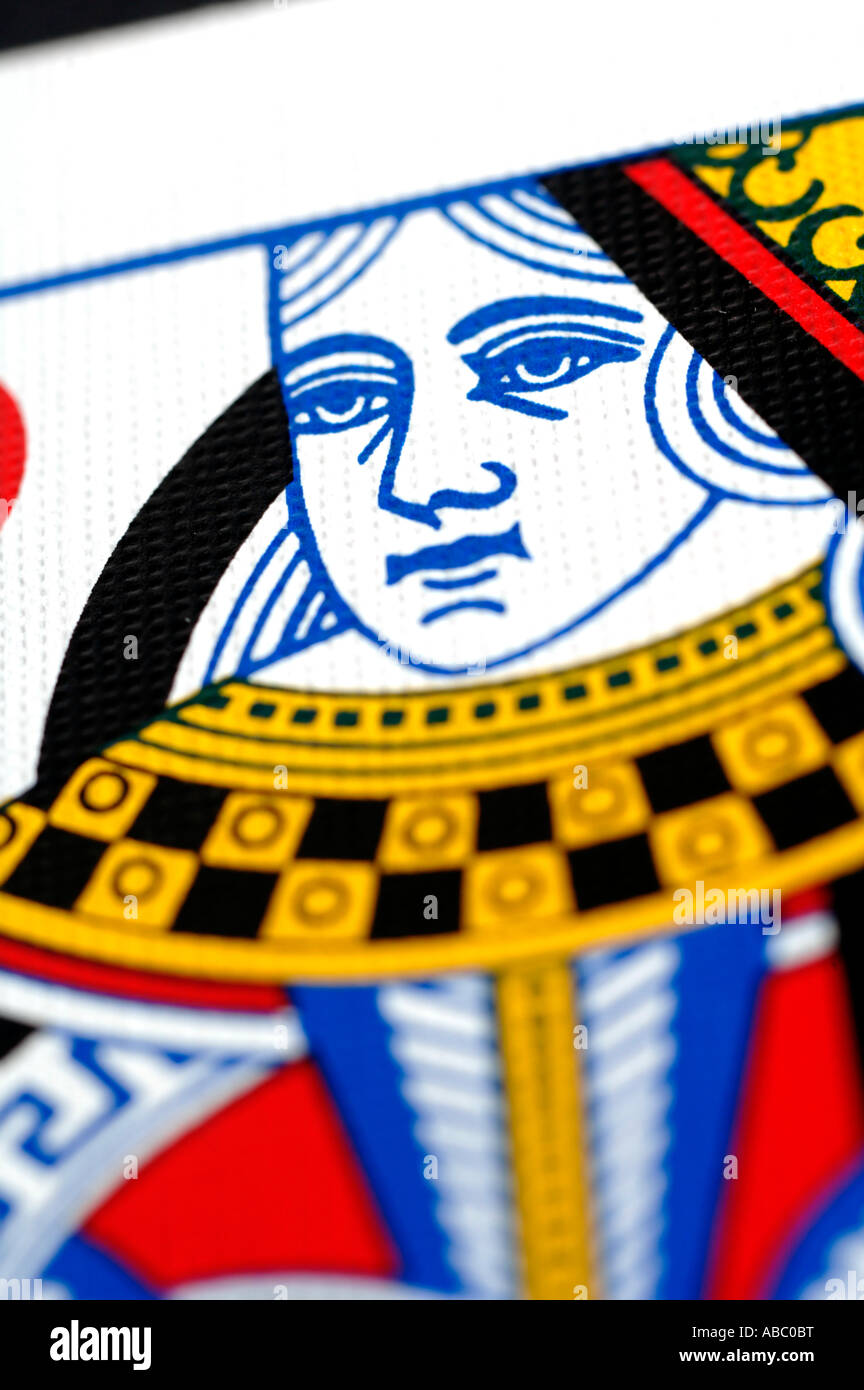 Close up of Queen of Hearts - Stock Image