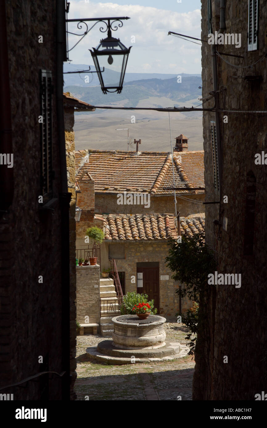 Castiglione Orcia tales valley Tuscany Italy - Stock Image