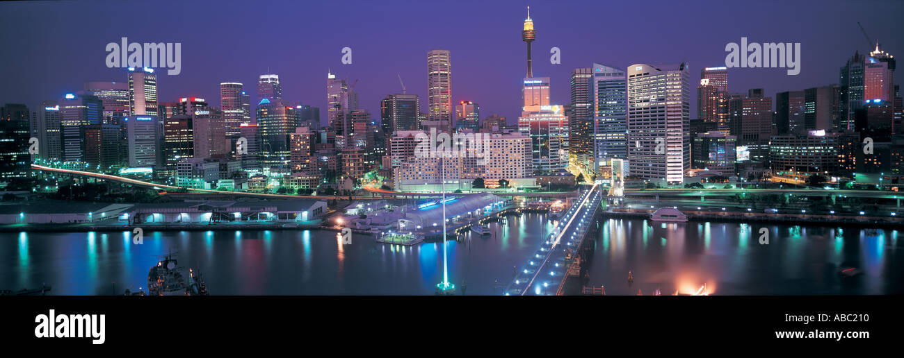 Darling Harbour in Sydney Australia - Stock Image