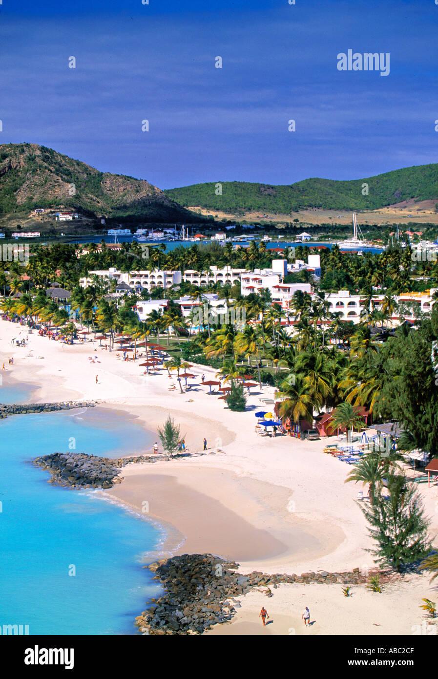Jolly Harbour, Antigua, Caribbean - Stock Image