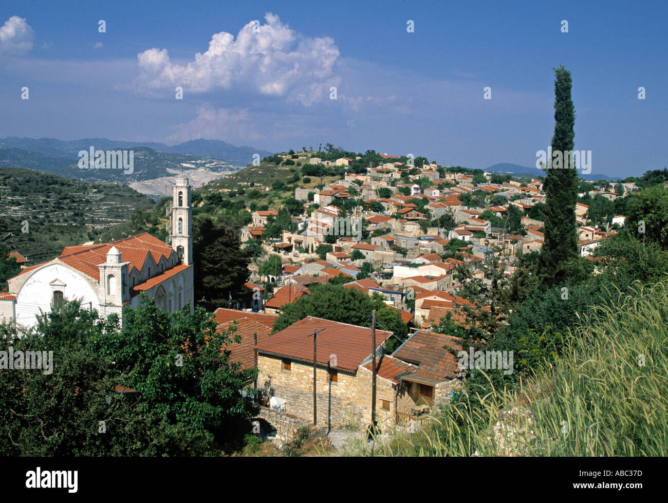 Lofou Village, Troodhos Foothills, Greek Cyprus - Stock Image