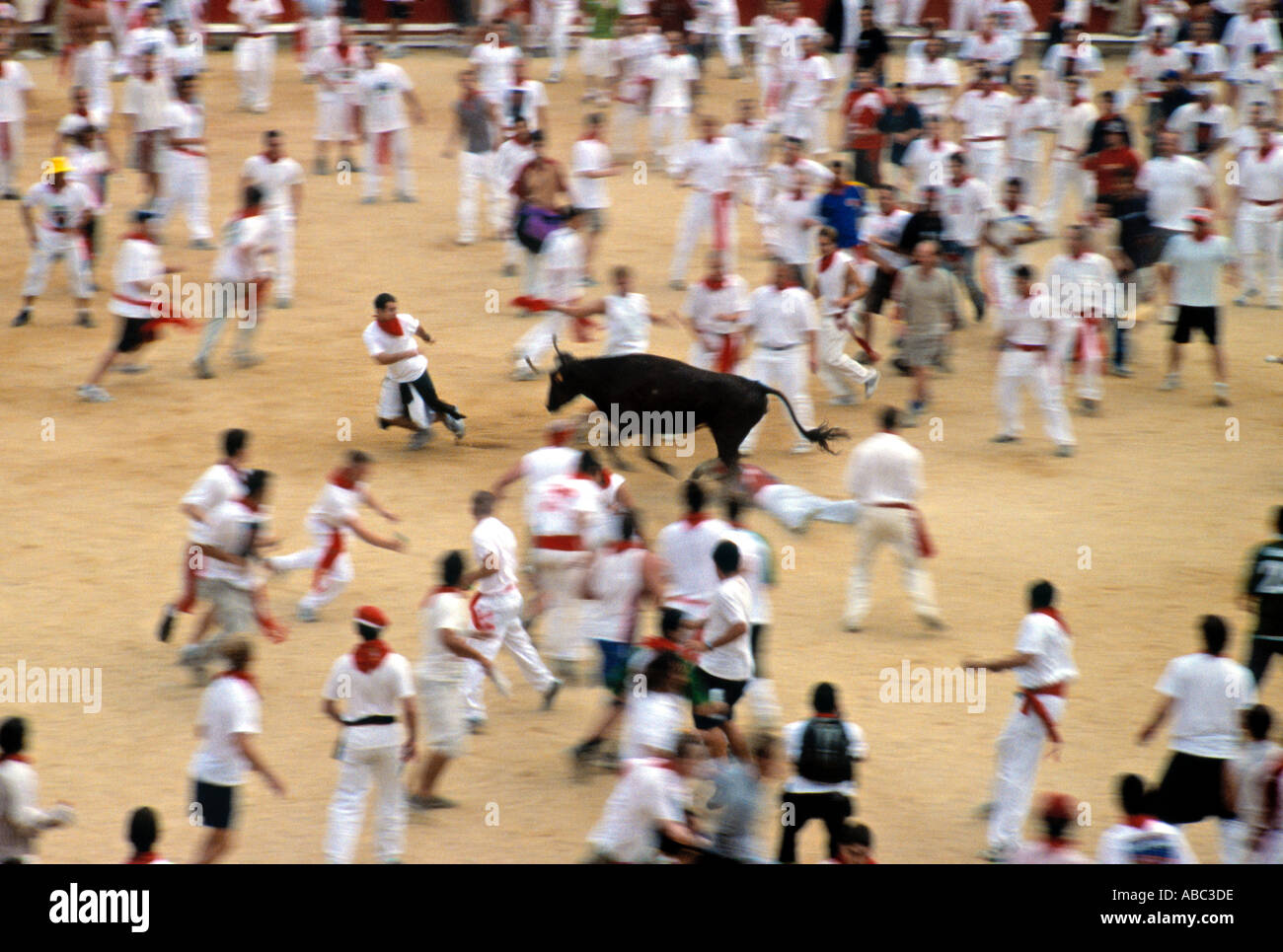 The Corrida, San Fermin Festival, Pamplona, Navarra, Spain Stock Photo
