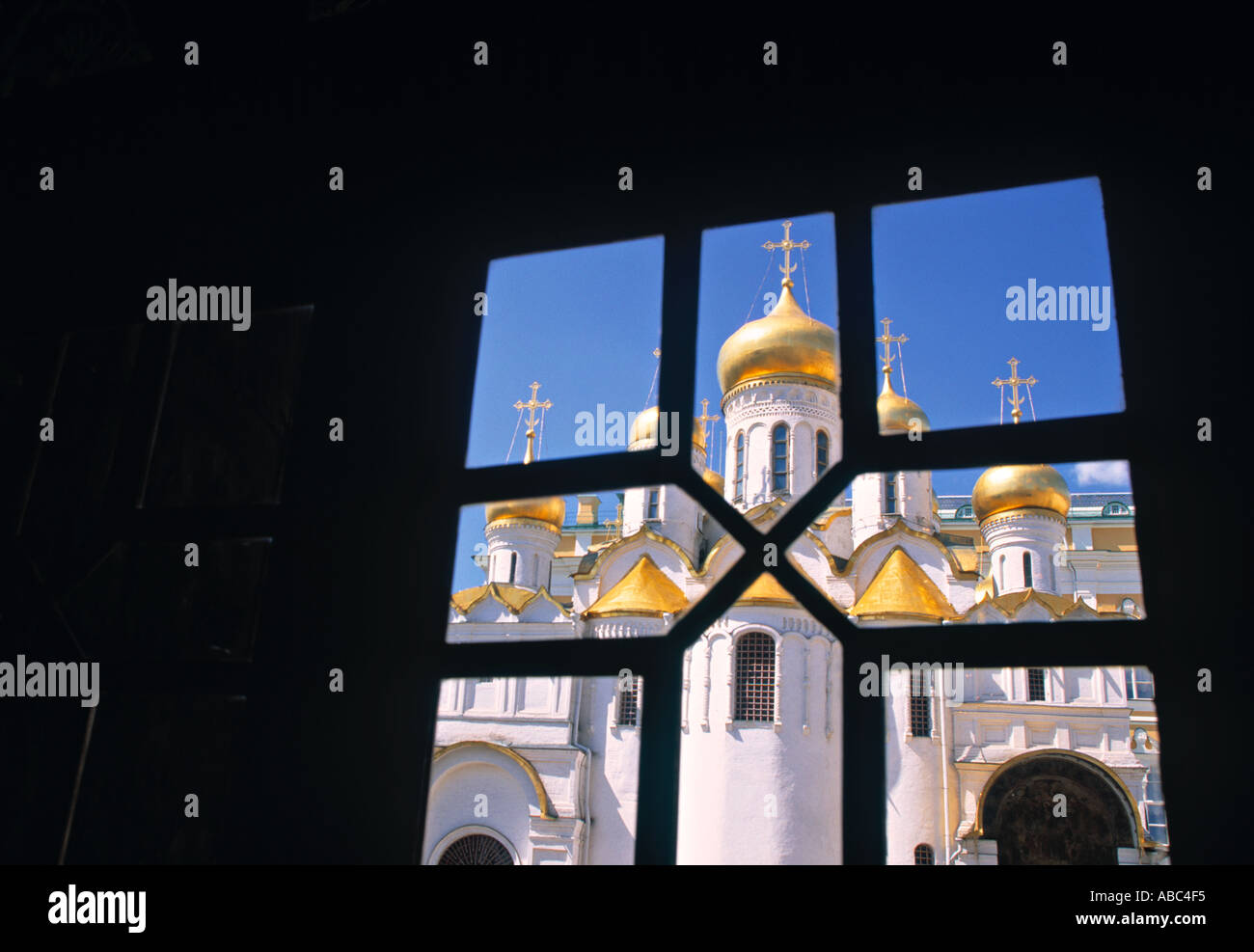 Church of the Annunciation, Kremlin, Moscow, Russia - Stock Image