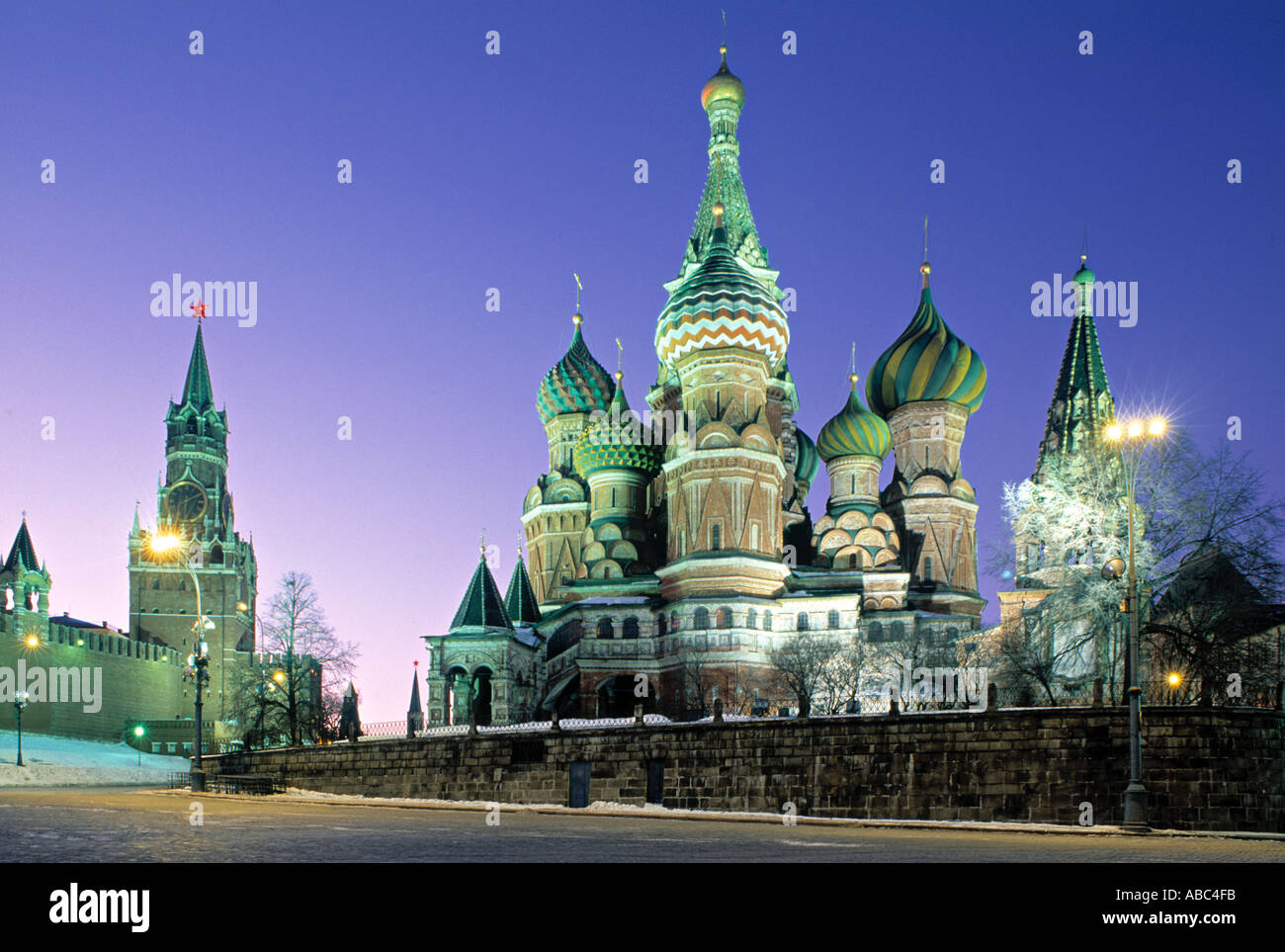 St. Basil's Church, Red Square, Moscow, Russia - Stock Image