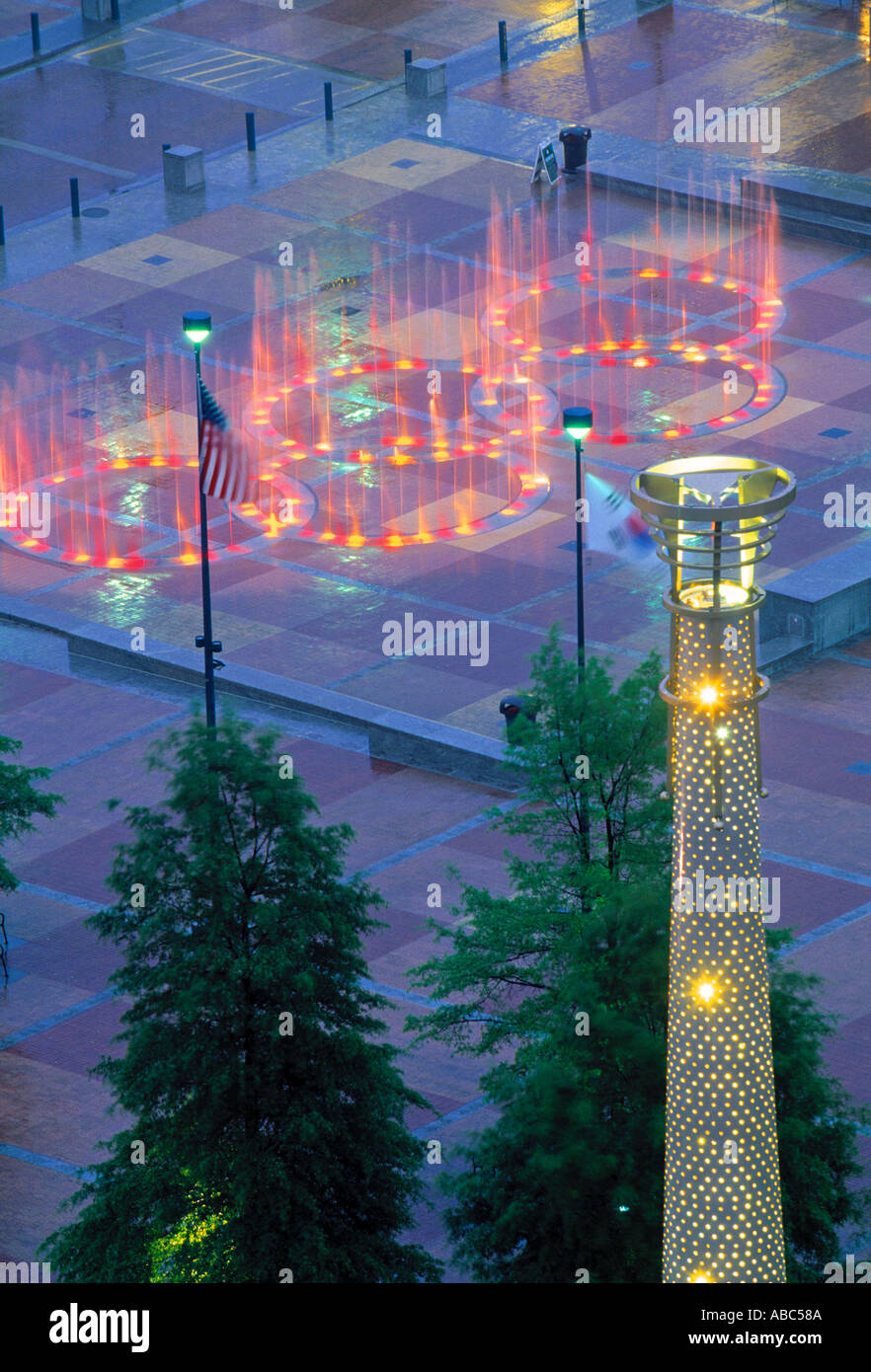Centinial Olympic Park, Atlanta, Georgia, USA - Stock Image
