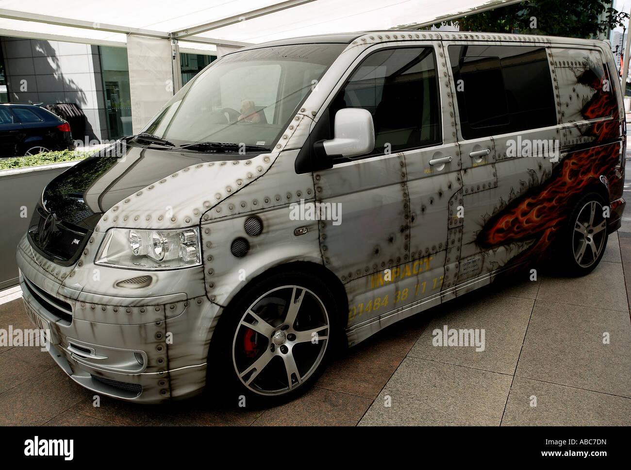 Van With Custom Paint Job