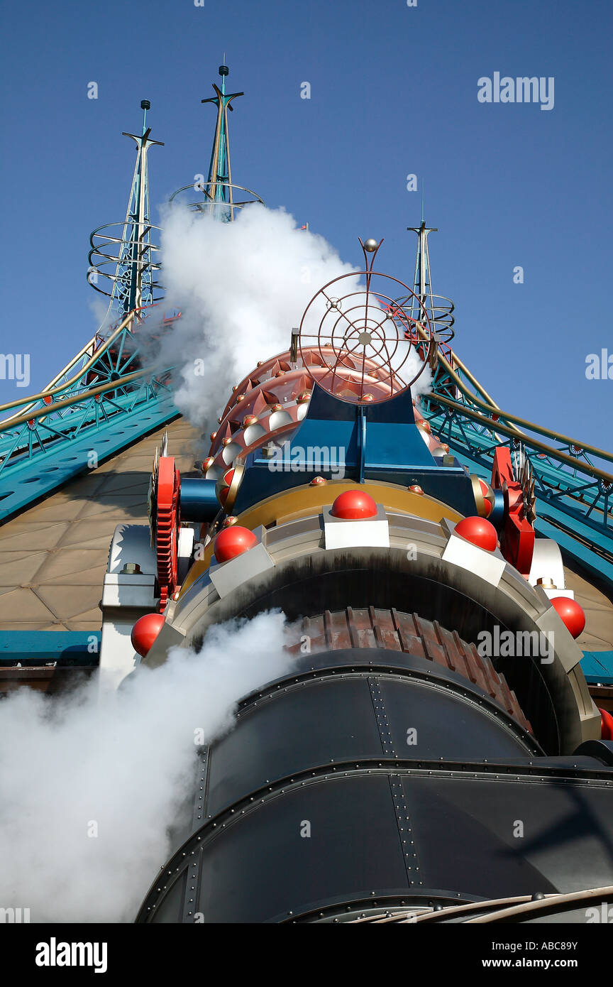 The Cannon at Space Mountain, Disneyland Paris Stock Photo