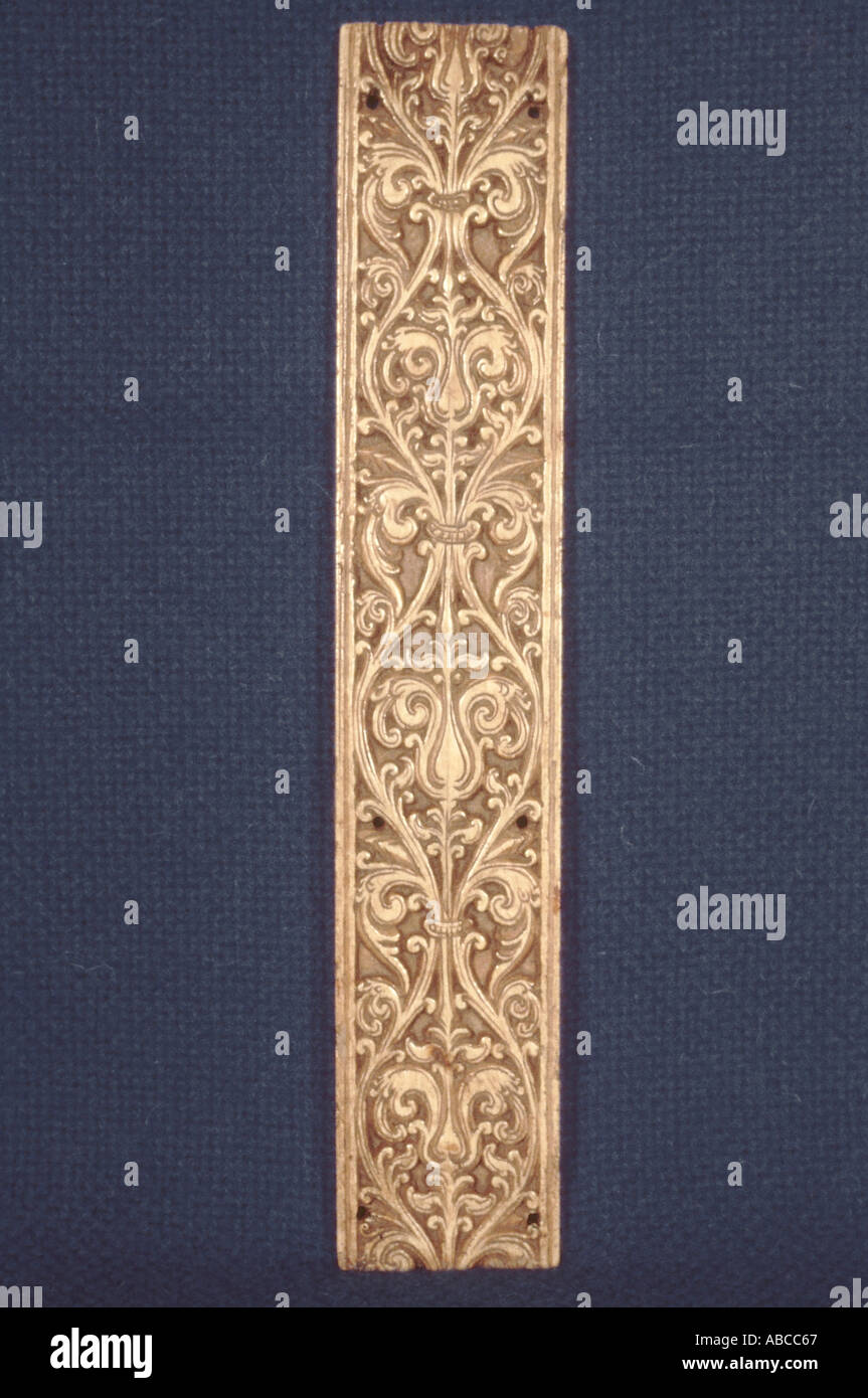 Pot Kamba. An ivory book cover. - Stock Image