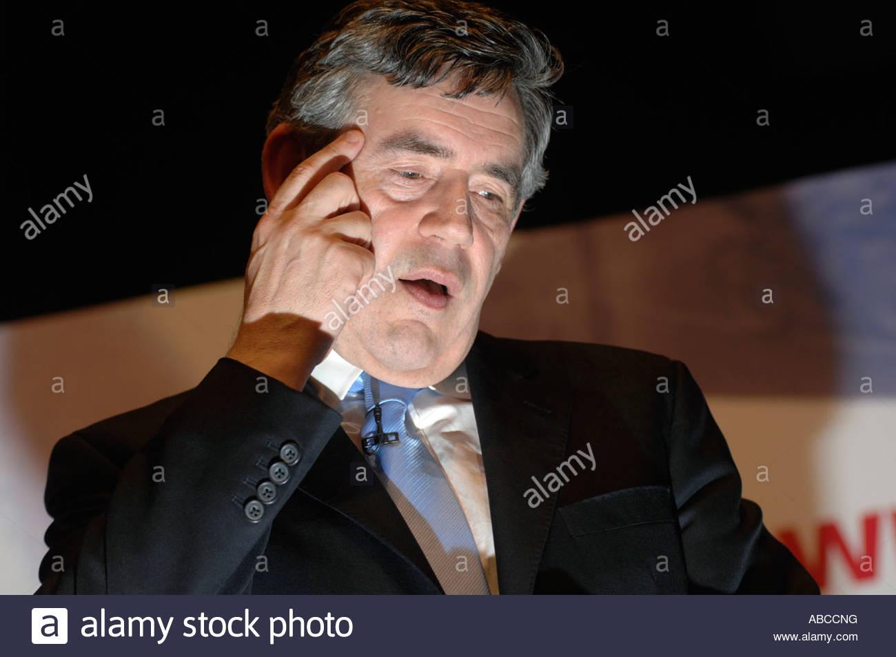 uk premier Gordon Brown - Stock Image