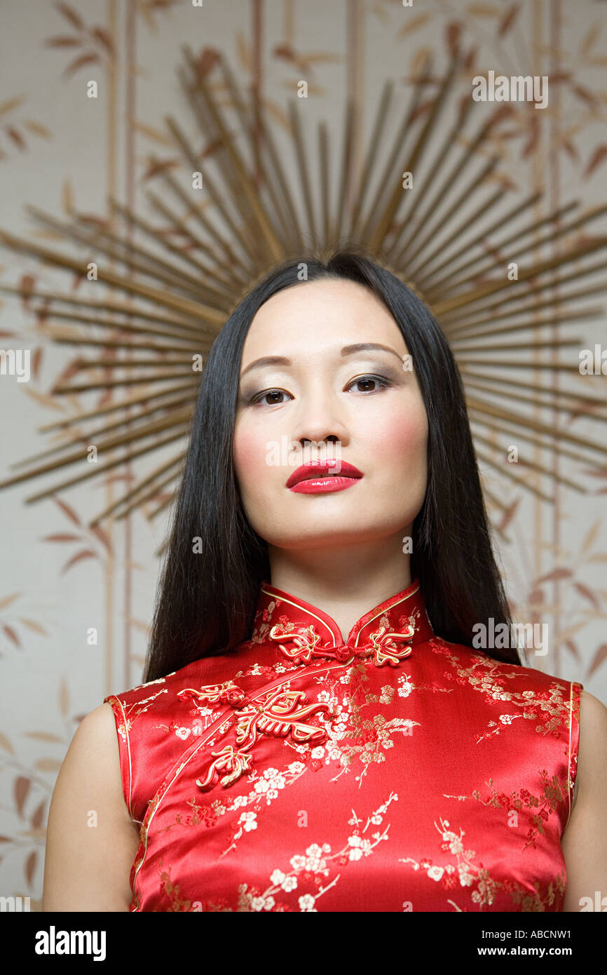 Portrait of a chinese woman - Stock Image