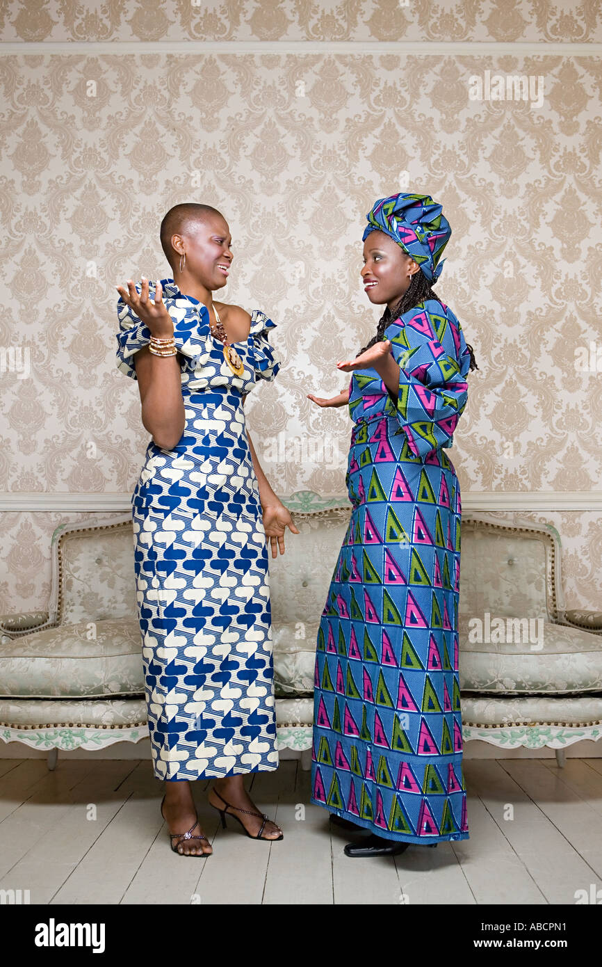 Two women in traditional clothing - Stock Image