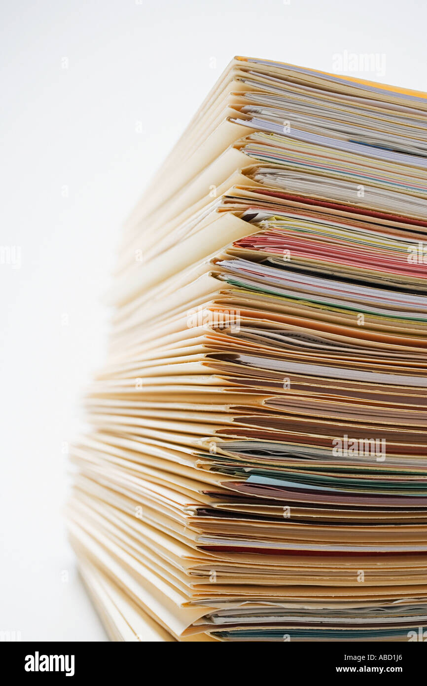 Stack of files and paperwork - Stock Image