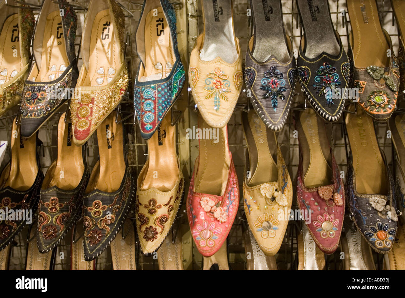 91aa81762ee3b Rack of slip on womens decorated shoes Chiang Mai Night Market north  Thailand