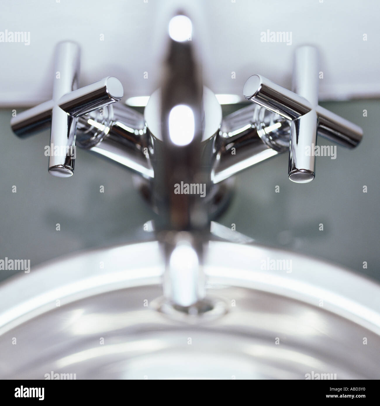 Chrome taps - Stock Image