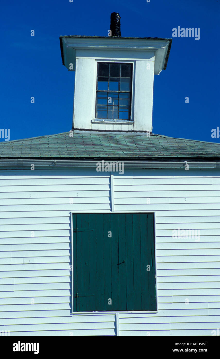 The cupola on an 1890 s stable on the Meserve Farm in Scarborough Maine Spring Southern Maine - Stock Image