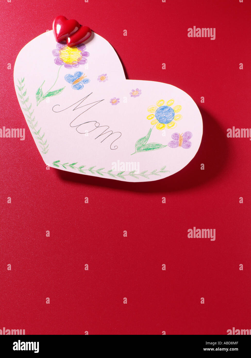 Mothers day card - Stock Image