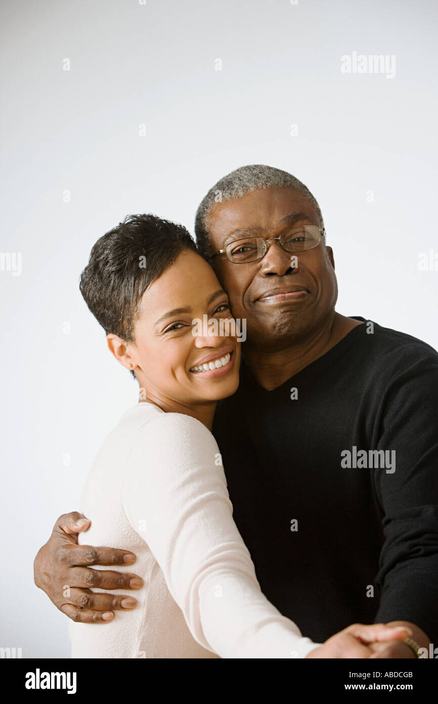 Father and daughter dancing - Stock Image