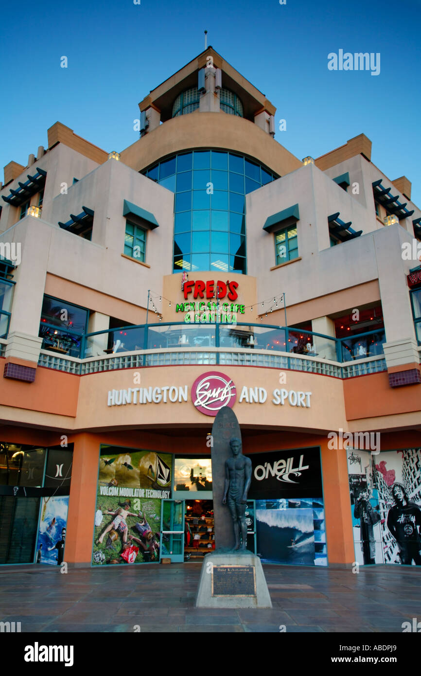 Stores along PCH in Huntington Beach Orange County