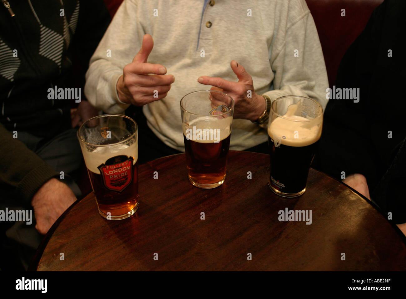 Drinkers in the Blackfriar Public House London UK Stock Photo