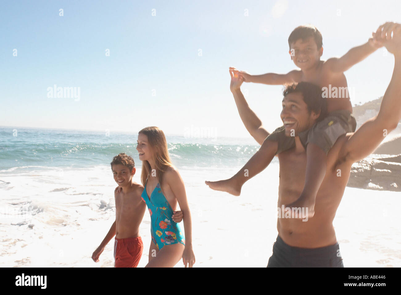 Family on summer holiday - Stock Image