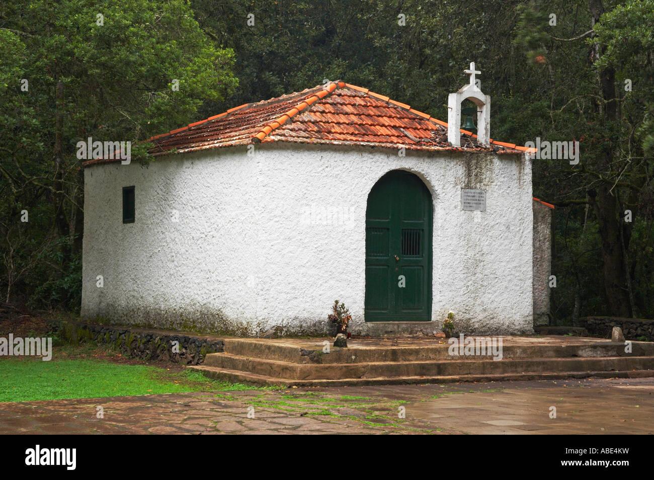 Ermita, El Cedro,Parque nacional de Garajonay, La Gomera, Canary islands, Spain Stock Photo