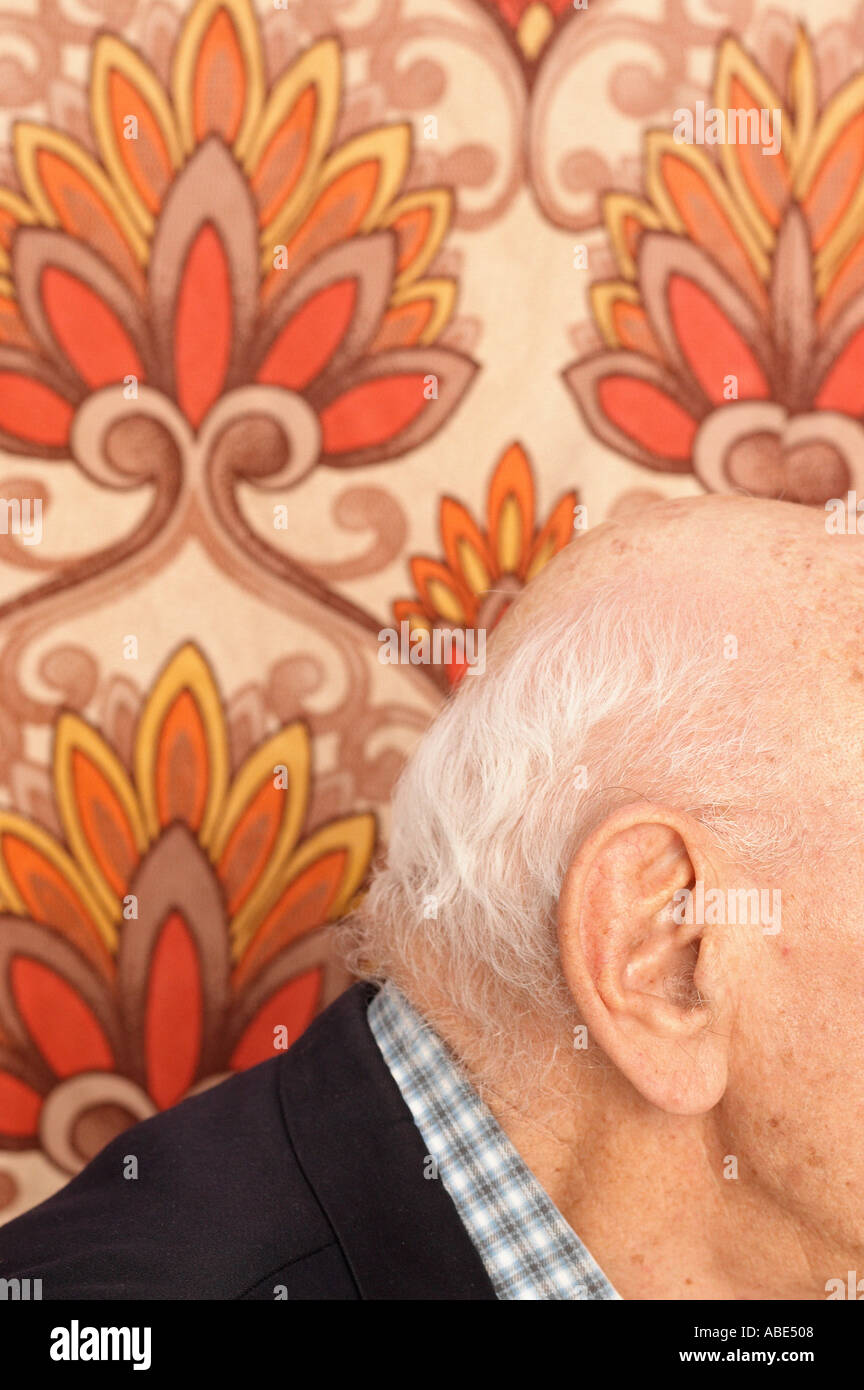Partial view of elderly man - Stock Image