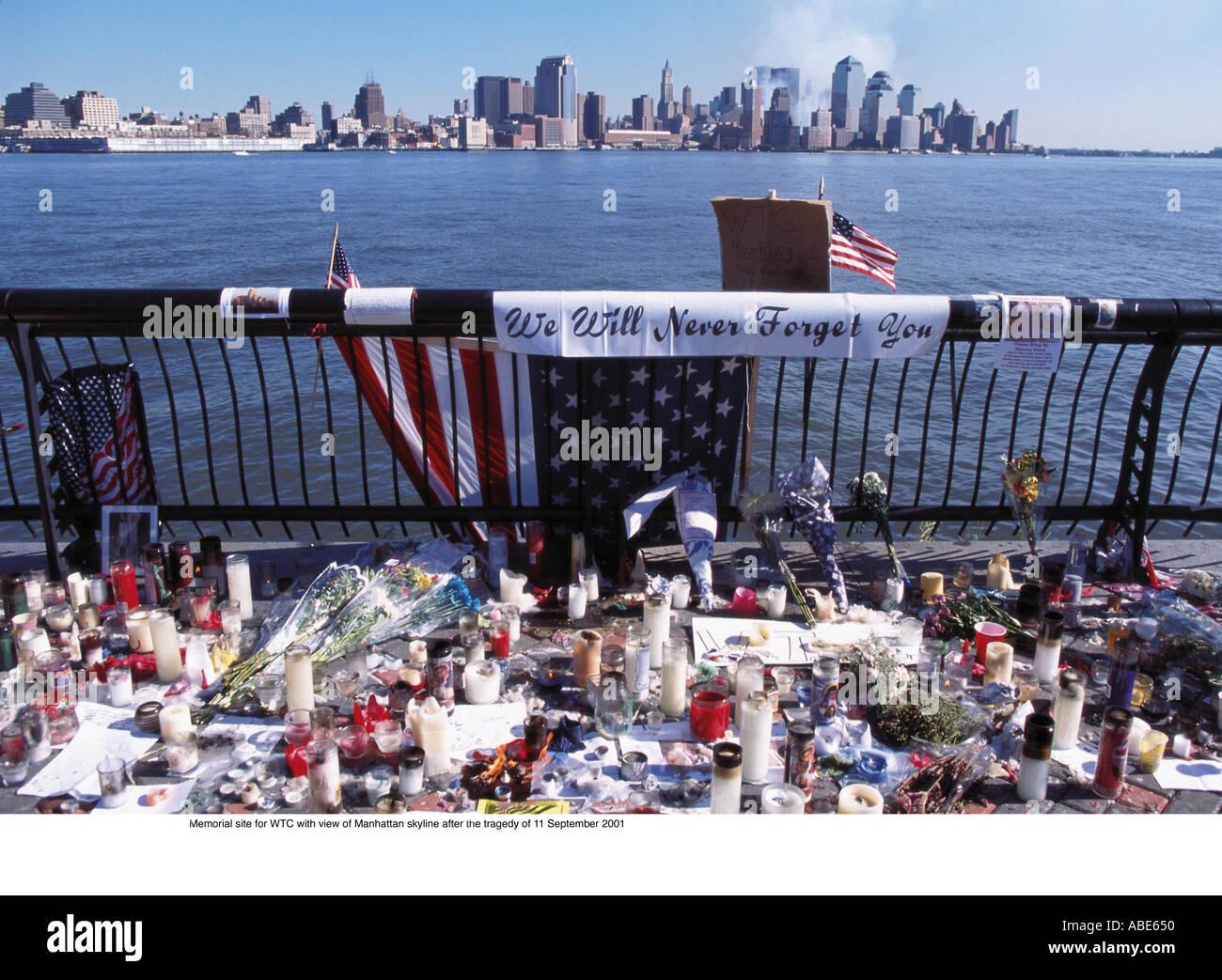 Memorial site for the world trade centre Stock Photo