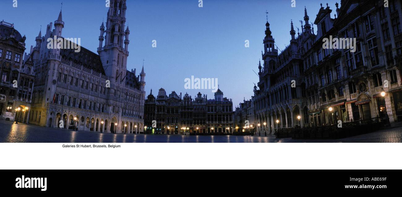 Galeries St Hubert, Brussels, Belgium - Stock Image