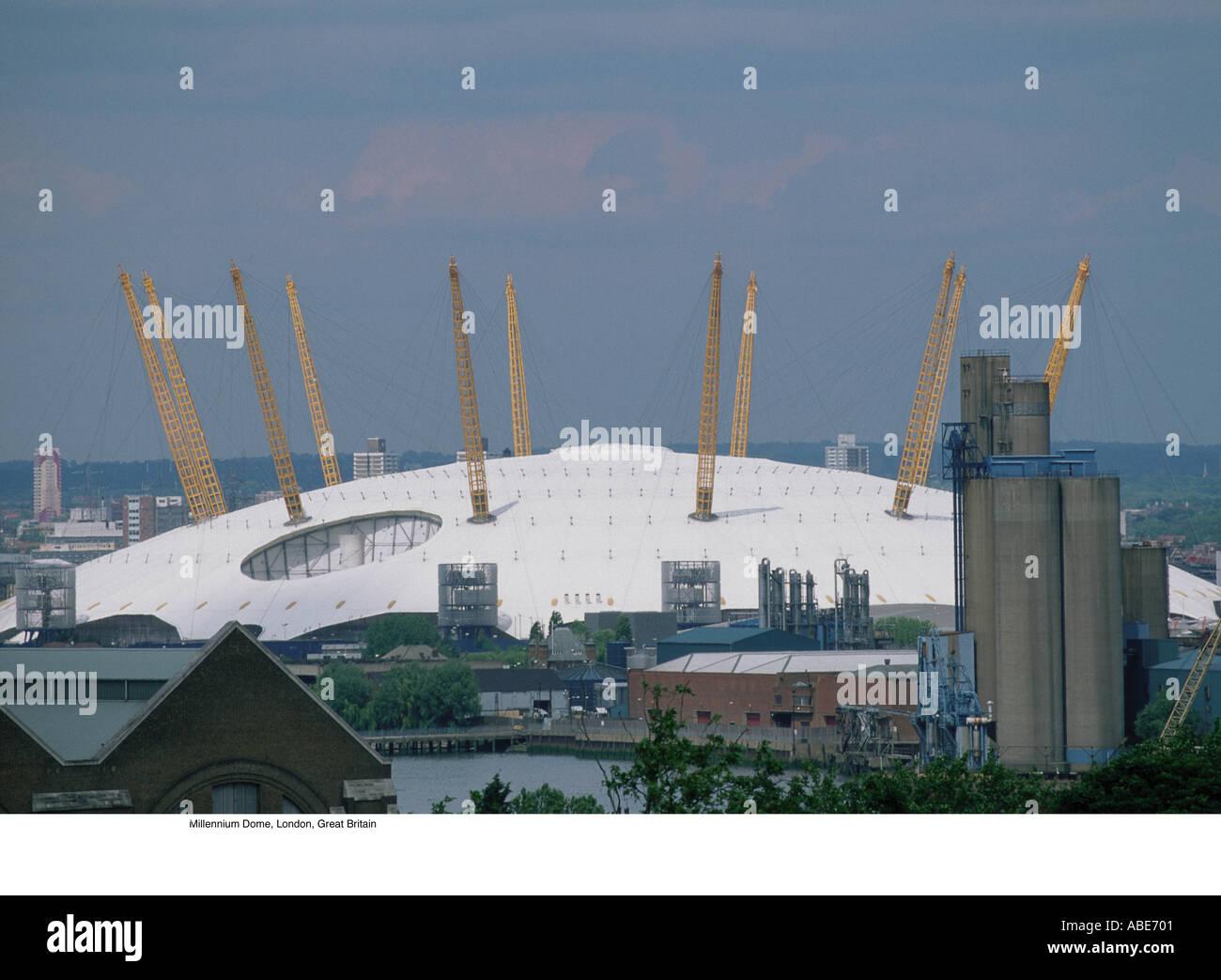 Millennium Dome, London, Great Britain - Stock Image