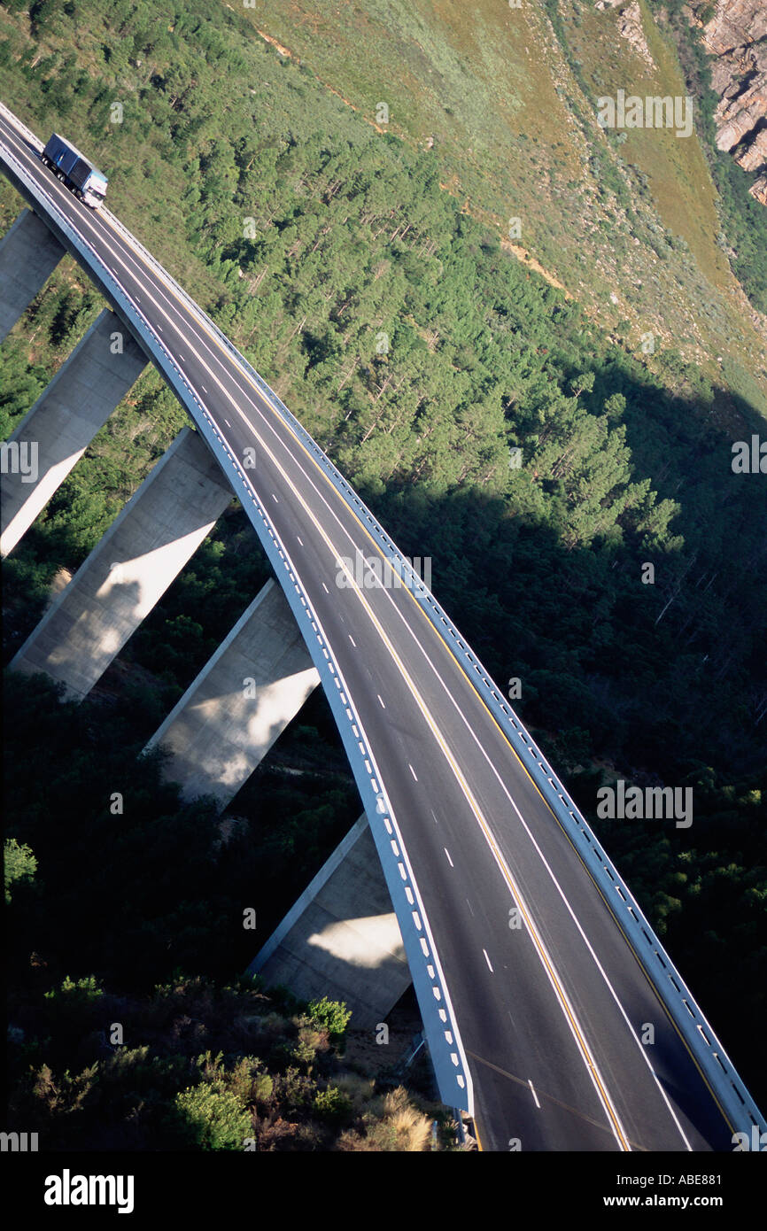 A suspended motorway - Stock Image