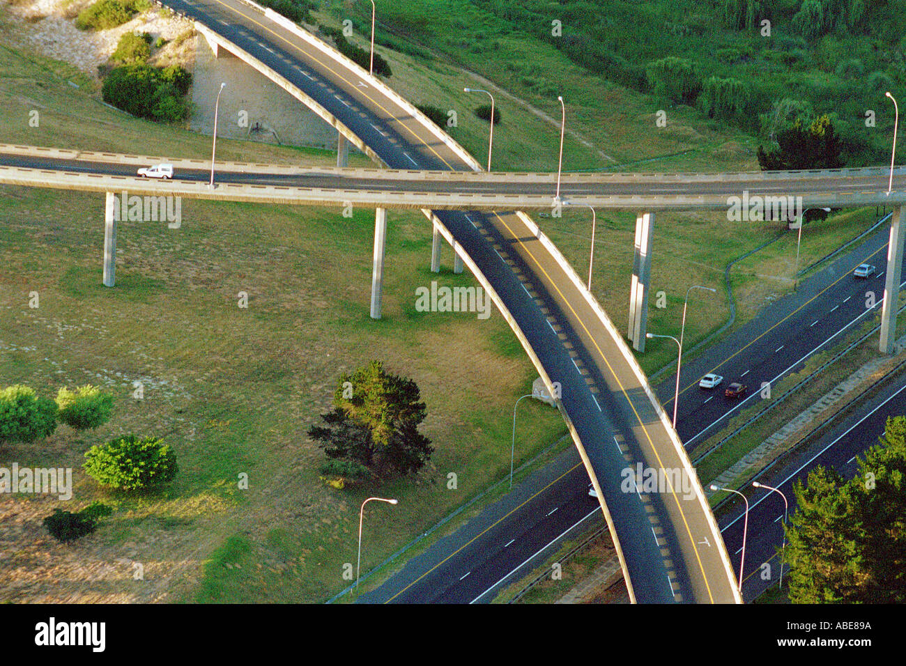 Suspended roads - Stock Image