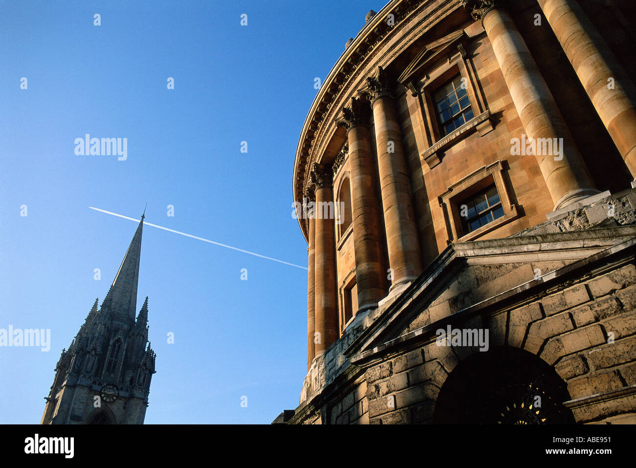 Classical building near spire - Stock Image