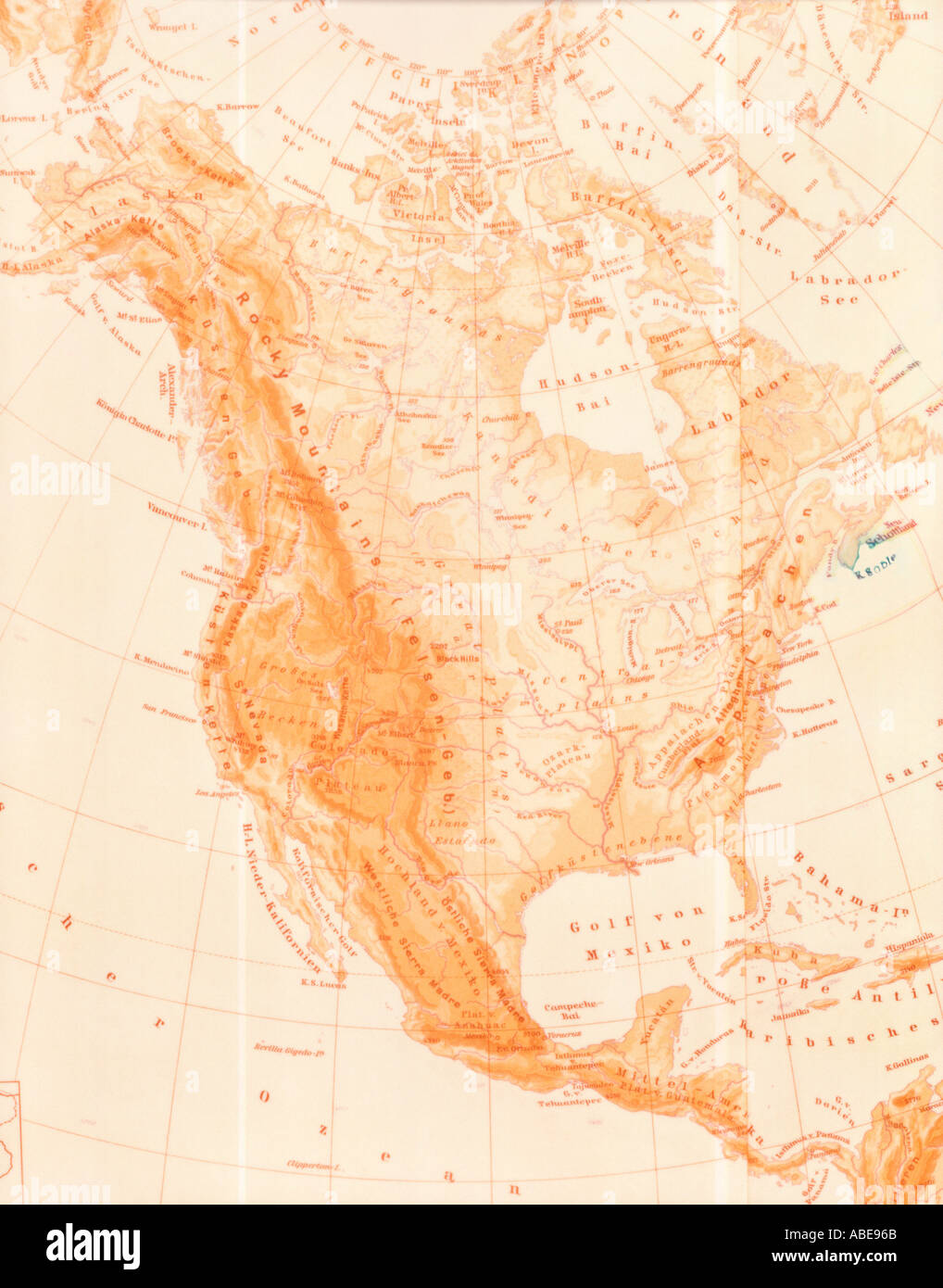 Map of North America - Stock Image