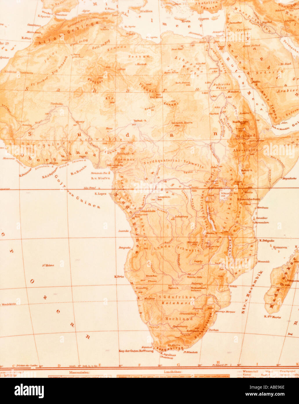 map of africa stock photo 780654 alamy