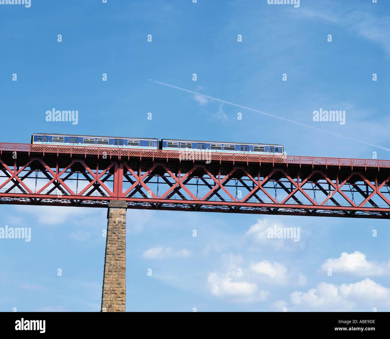 Suspended rail bridge - Stock Image