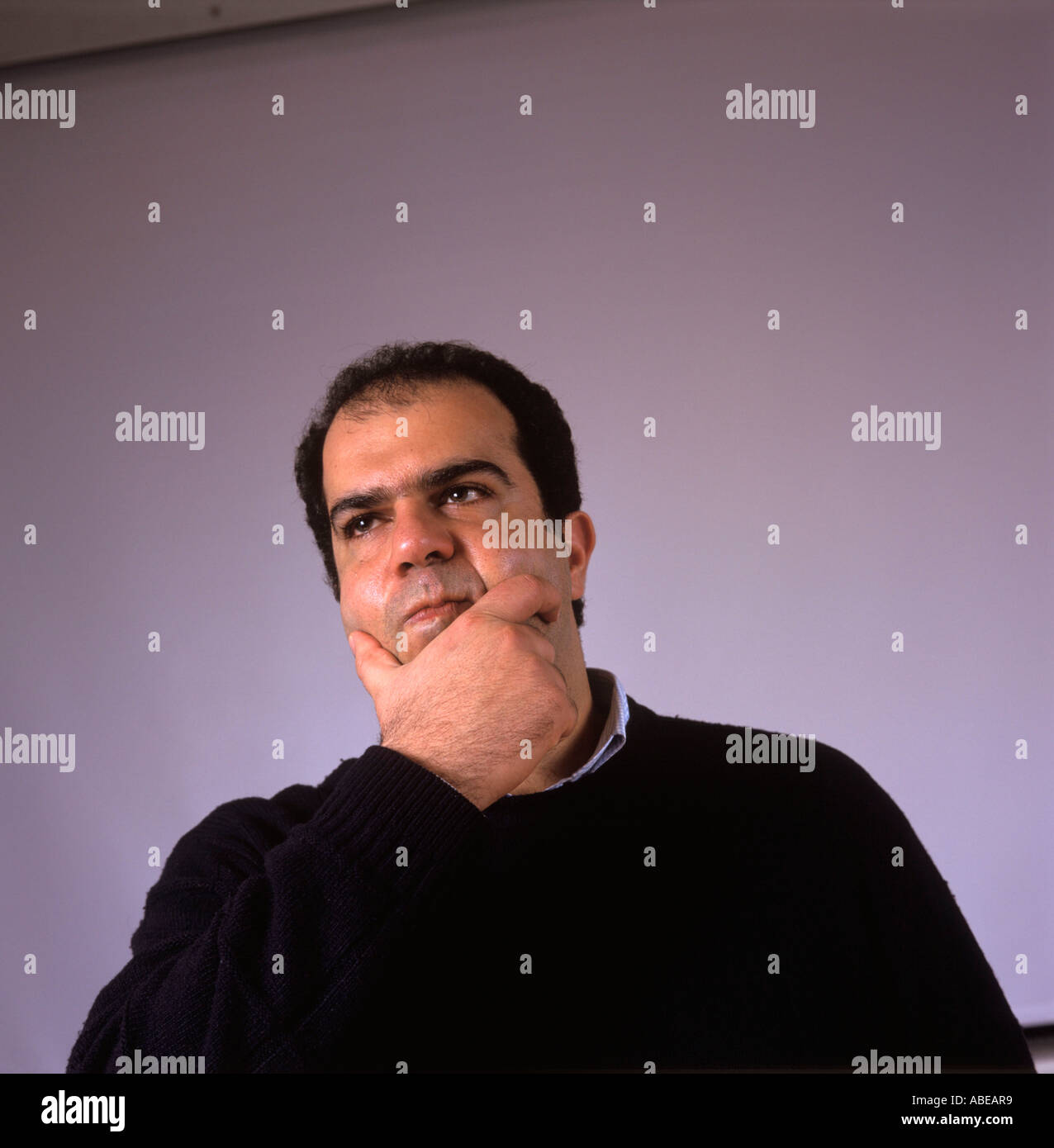 Stelios Haji Ioannou founder and CEO of EasyJet at the EasyJet Headquarters in London January 2004 - Stock Image