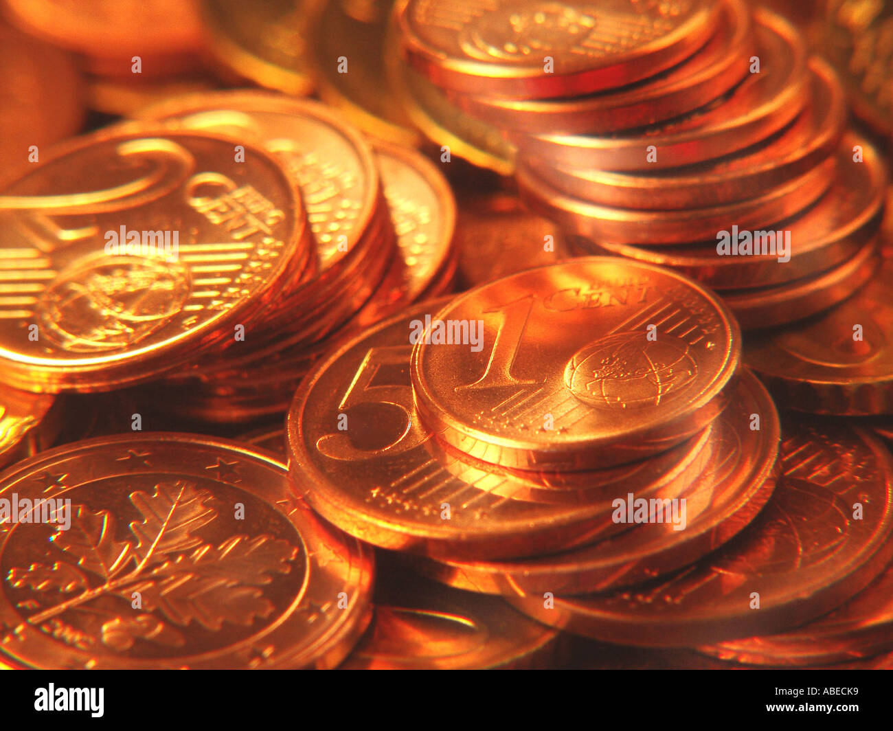 Cent coins - Stock Image