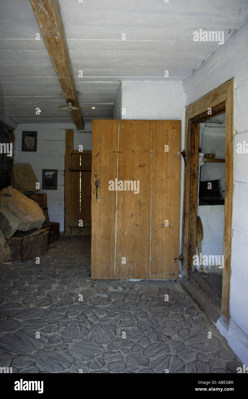Interior of old Polish House Poland Stock Photo